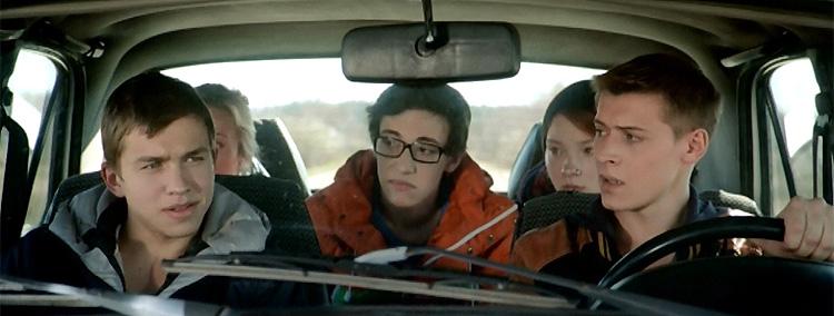 Ребята едут в автомобиле за грабителем, Чернобыль, зона отчуждения
