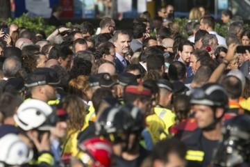 Король Испании впервые вышел на акцию протеста