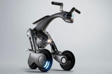 В Японии создан беспилотный электроскутер