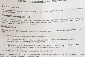 PayPal обещал подать в суд на британку за нарушение соглашения своей смертью