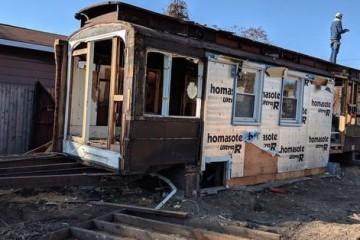В США в частном доме найден «заблудившийся трамвай»