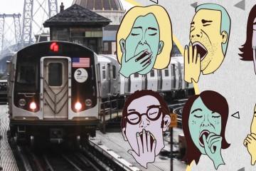 Житель Нью-Йорка научил всех спать в метро без риска проспать остановку