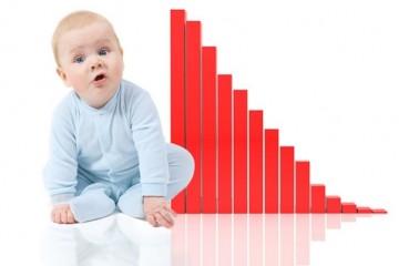 Кризис в РФ подкосил рождаемость на 15%
