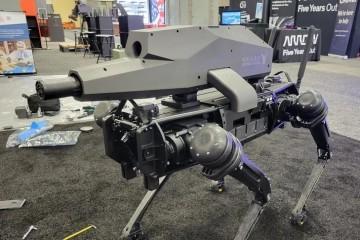 Робособак вооружили дальнобойными сверхточными винтовками